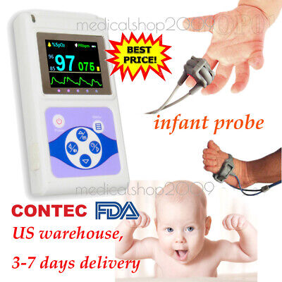 New Neonatal Infant Pediatric Kids Born Pulse Oximeter Spo2 Monitorpc Software
