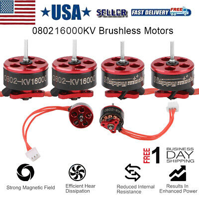 4pcs FPV Racing Drone Motor 1-2S SE0802 16000KV for Mobula7 Snapper7 RC Drone