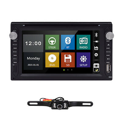 """Double 2 Din 6.2"""" Car DVD CD Player Touch Screen In Dash Stereo Radio+New Camera on Rummage"""