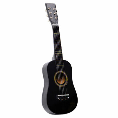 Children Kids Black Acoustic Guitar With Pick Wire Strings Musical Instruments