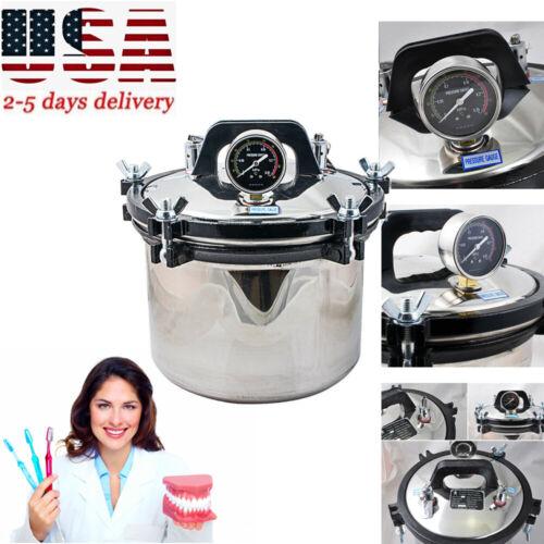 Autoclave Sterilizer Medical Dental Tattoo Autoclaves Steam Sterilization 8L A+