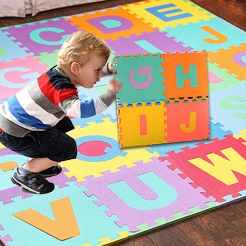 36Pcs Alphabet Numbers EVA Floor Play Mat Baby Room ABC Foam
