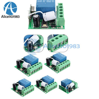 125pcs 433mhz Dc12v 10a 1ch Wireless Relay Rf Remote Control Switch Receiver