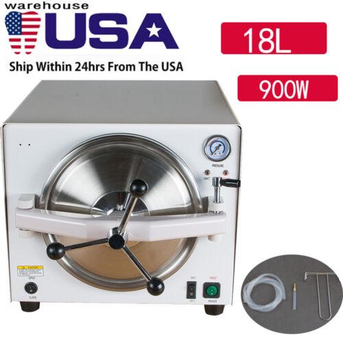18L 900W Dental Lab Autoclave Steam Sterilizer Medical Sterilization Equipment A