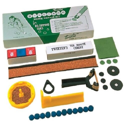 Pool Cue Stick Tip Repair Kit Deluxe Home Billiards Tweeten Fibre Co