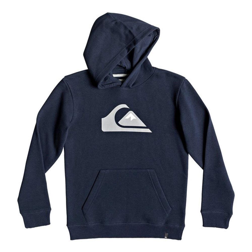 Felpa Quiksilver Boys Big Logo Hood Navy Blazer Bambini e Ragazzi