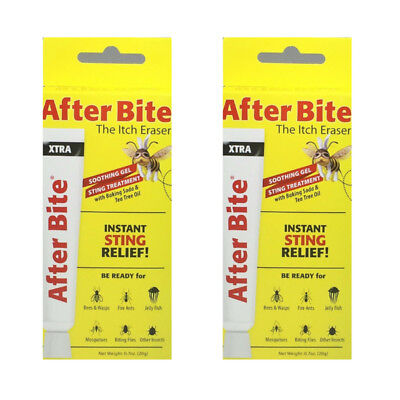 2 Pack After Bite Xtra Gel The Itch Eraser Instant Sting Relief 0.7 Oz Each