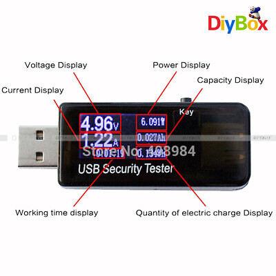 LCD USB Tester Detector Voltmeter Ammeter Power Capacity Voltage Current Meter