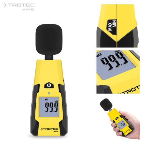 TROTEC Schallpegelmessgerät BS06   Schallpegelmesser Dezibel Digital 40 - 130 dB
