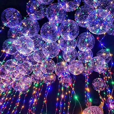 6/12/18X LED Helium Balloon Leucht Luftballon Geburtstag Hochzeit Weihnachten - X 12 Luft