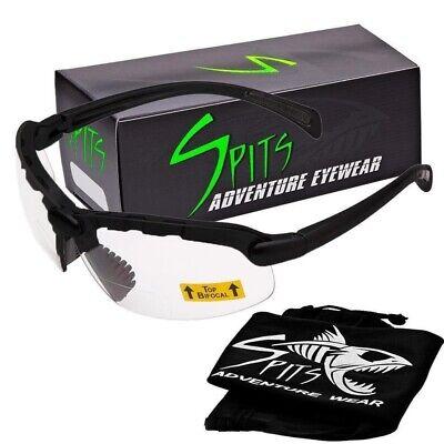 C2 Top Focal Or Bottom Bifocal Safety Glasses Black Frame Various Lens Options