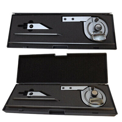 """UNIVERSAL BEVEL DIAL PROTRACTOR MAGNIFIER 6 12"""" BLADES SATIN 360 Stainless Steel"""