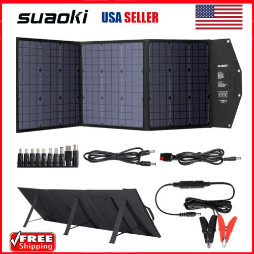 SUAOKI 120W Solar Panel Battery Charger Folding DC 12-18V Su