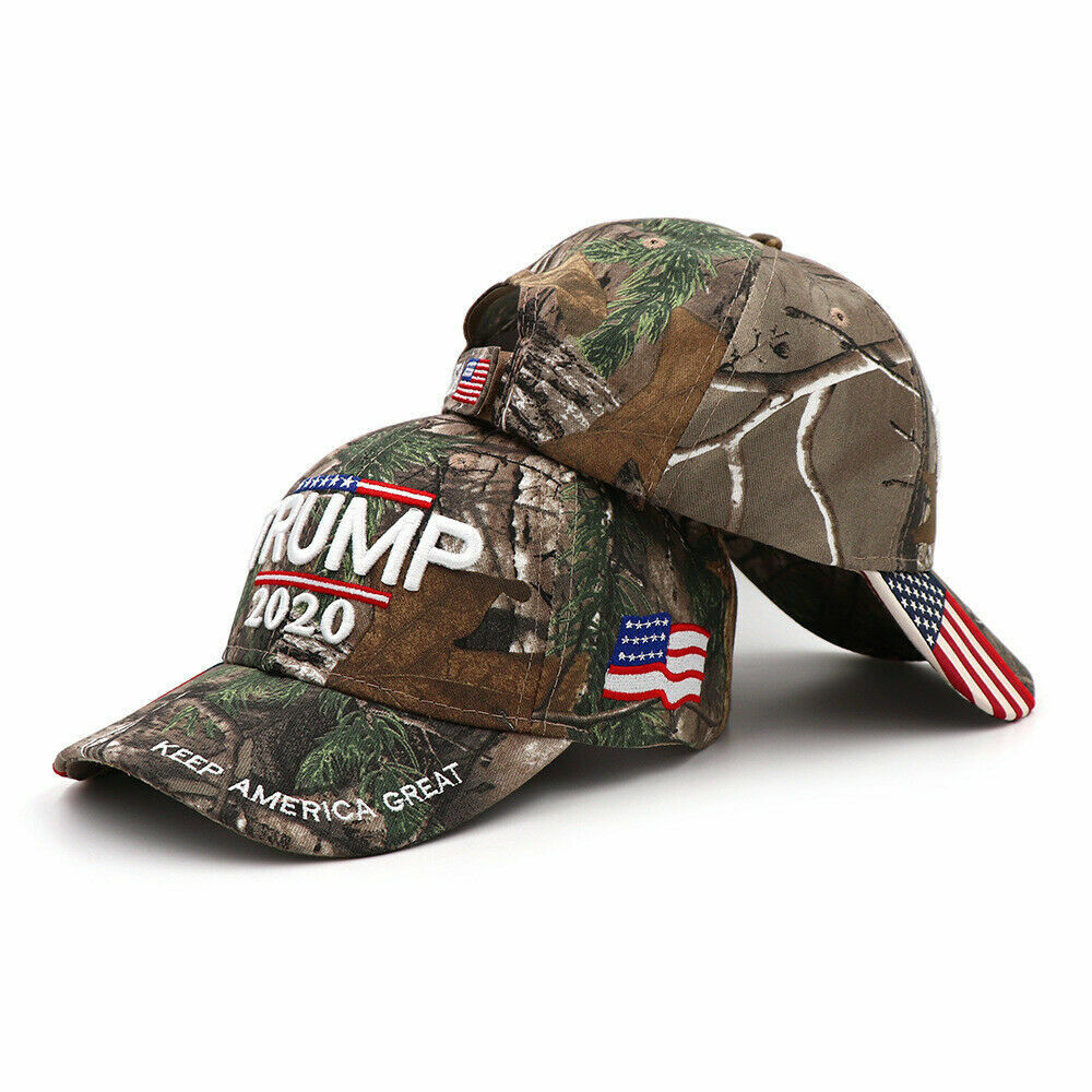 2020 President Trump MAGA Baseball Cap Republican Hat w/Embroidery USA Flag Camo Collectibles