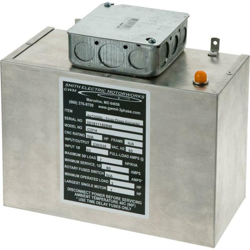 Grizzly G5843 Static Phase Converter - 3 to 7 HP