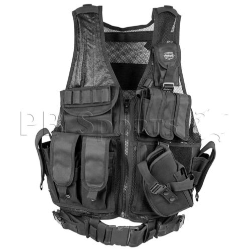 Valken Crossdraw Paintball Airsoft Vest Tactical Adult Black Protection Padded
