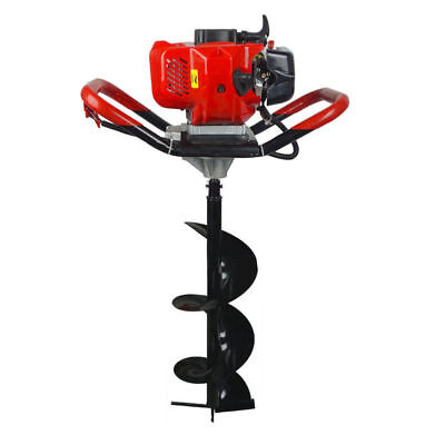 2.2hp Gas Powered 52cc Post Hole Digger Type 4 810 Earth Auger Ground Drill