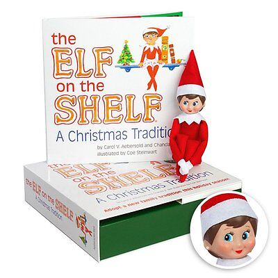 Elf On The Shelf   A Christmas Tradition Blue Eyed Girl Light Skinned Scout Elf