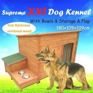 Warehouse direct XXL 137cm dog kennel flap bowls storage Riverwood Canterbury Area Preview