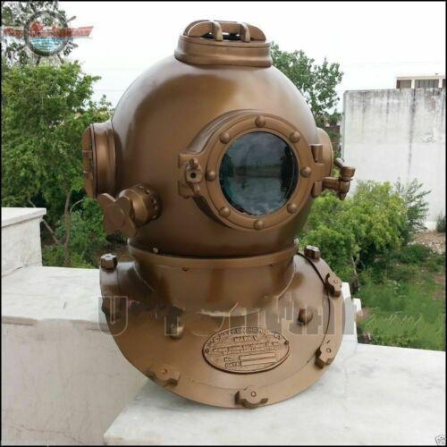 Antique Morse Sea Boston Nautical Deep Diving Helmet US Navy Deep Scuba Divers