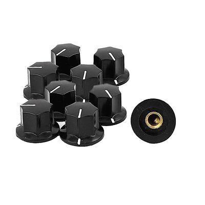 5pc 6mm Dia Knurled Button Cap Volume Potentiometer Control Switch Cap