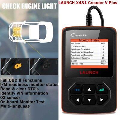 LAUNCH X431 Creader V+ Automotive Scanner OBD2 Fault Code Reader Diagnostic Tool