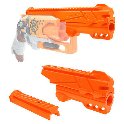 MaLiang 3D Print Magnum Barrel Top Rail Orange for Nerf Hammer Shot Modify Toy