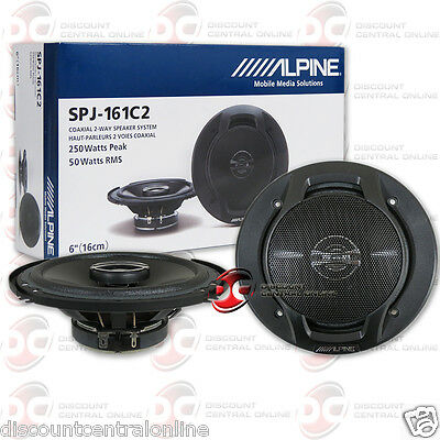 Brand New Alpine 6  6 Inch 2 Way Car Audio Coaxial Speakers  Pair