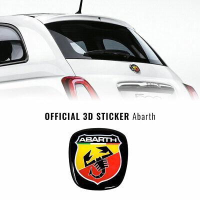 Adesivo 3D Logo Abarth Anteriore + Posteriore Scudetto Ufficiale per Fiat 500