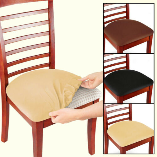 2/4/6 Pcs Chair Seat Cover Slipcover Stretch Elastic Dining