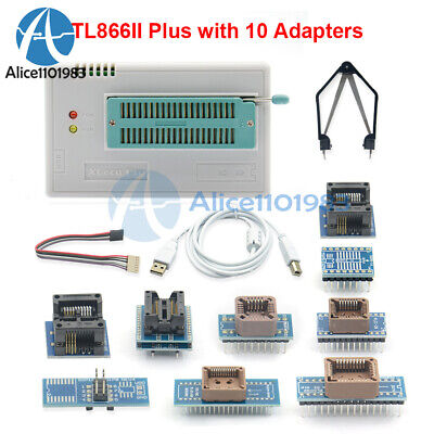 Tl866ii V9.16 With 10 Adapterssop8 Ic Clip High Speed Flash Eprom Programmer