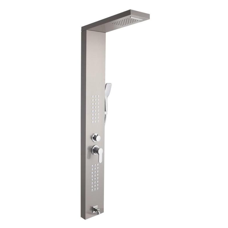 60in Shower Panel Tower Massage System Stainless Steel Wall Mount Anti-pollution