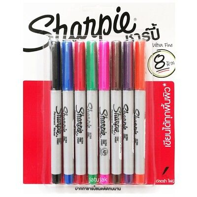 Sharpie Ultra Fine Point Marker Permanent Pack 8 Assorted Colors