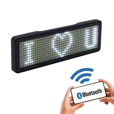 Bluetooth Mini Led Display Digital Led Badge Diy Programmable Hd Text Scrolling