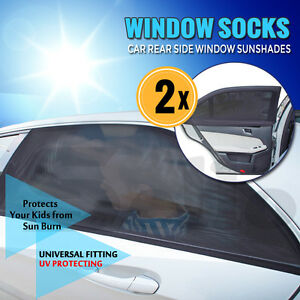 New 2 x Universal Car Rear Window Sun Shade Sunshine Blocker prevent sunburn