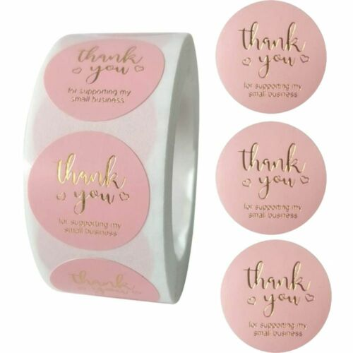 100-500pcs Sticker Roll Thank You For Supporting My Business Box Seal Stickers