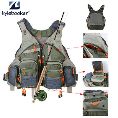 Fly Fishing Vest Pack For Men Adjustable Size Breathable Mutil-Pocket Vest