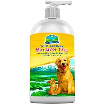 OMEGA 3 Fish Oil For Dogs & Cats With Alaskan Salmon Oil Vitamin E + DHA & EPA