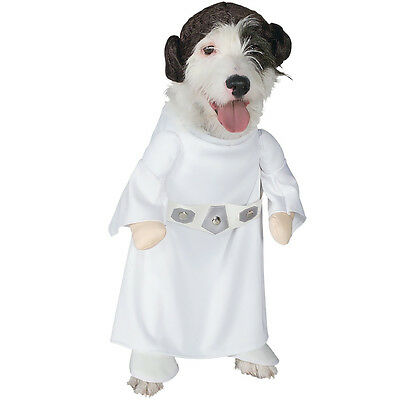 Princess' Leia XL Hund Kostüm Star Wars Rubie's 887894 Halloween Spaniel Süß - Leia Hunde Kostüm