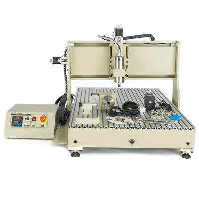 4axis Cnc6090gz Usb Metal Engraver Drill Milling Machine 3d Cutter 2.2kw Vfd Usb