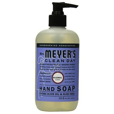 Mrs. Meyers Clean Day Liquid Hand Soap Hard 12.5 Oz Bluebell