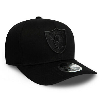 New Era Men's NFL Tonal Black Oakland Raiders 9FIFTY Stretch Snap Snapback Cap