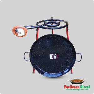 60cm Spanish Paella Pan & 40cm Gas Burner Kit / Set