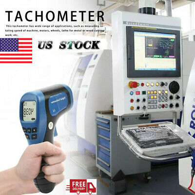 Digital Laser Photo Tachometer Non-Contact Gun Handheld RPM Tach Tester Meter US