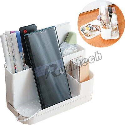 Desk Organizer Pen Holder With Rotating Drawer Makeup Office Home Storage Box