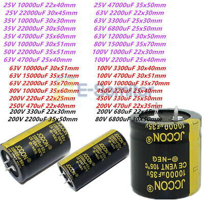 High Frequency 220-47000uf 105c 25-450v Radial Aluminium Electrolytic Capacitor