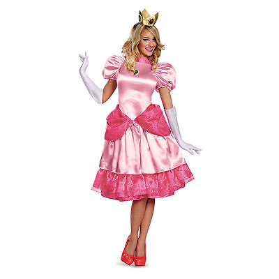 Super Mario Brothers - Princess Peach Deluxe Adult Costume