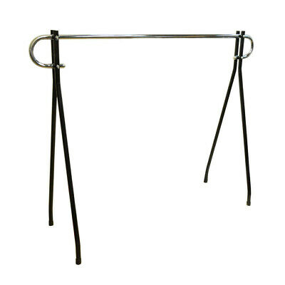 54h Black Clothing Rack Garment Display Single Chrome Bar Retail Fixture