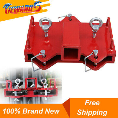 Forklift Ball Hitch Attachments 2 Trailer Hitch Receiver For Dual Pallet Forks