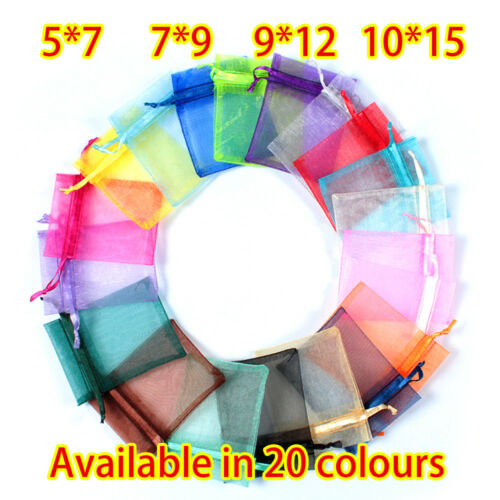 Jewellery - UK LUXURY Organza Gift Bags Jewellery Pouch XMAS Wedding Party Candy Favour